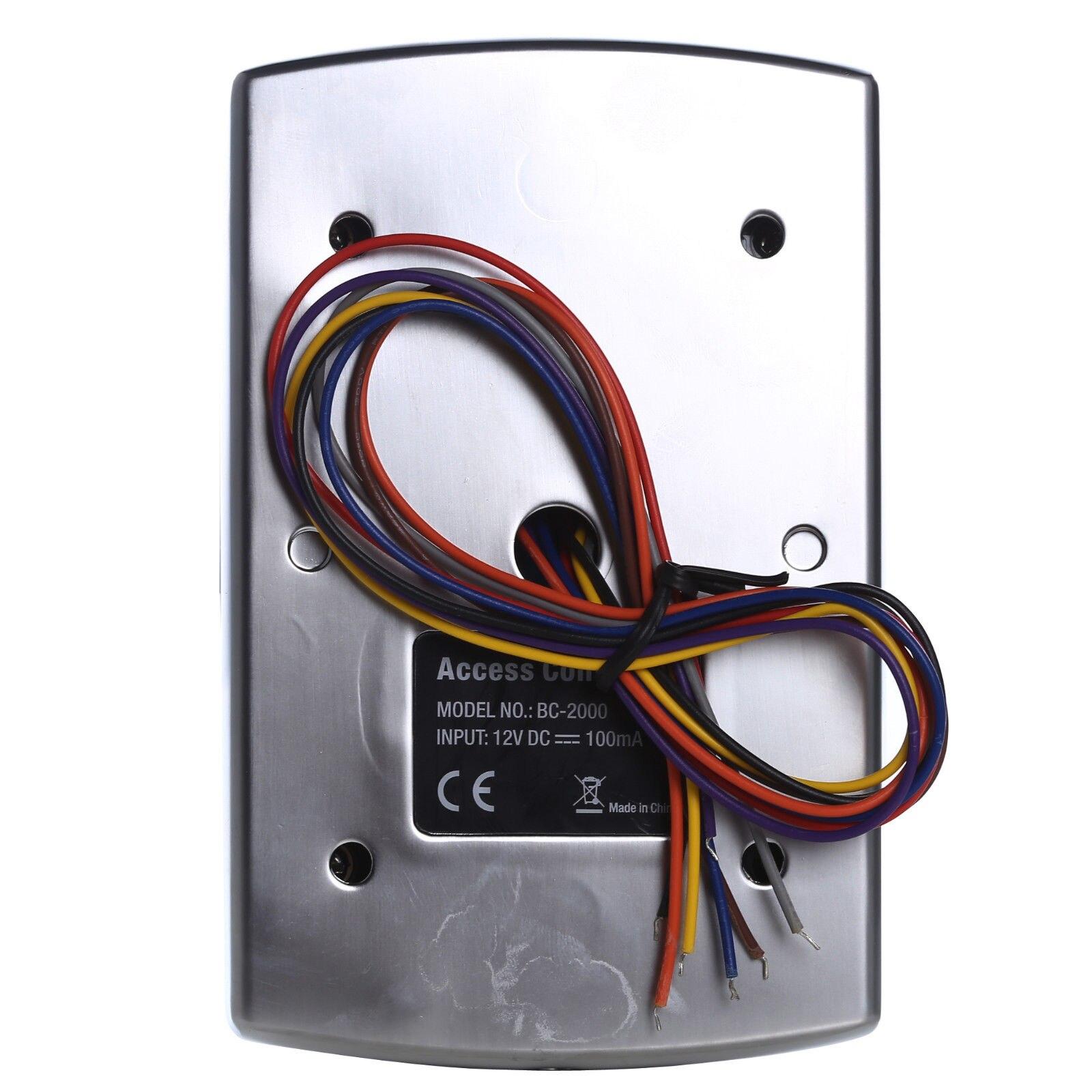 Sebury BC-2000 125 кГц RFID EM пропуск металлическая автономная клавиатура управления доступом с Брелоки для ключей с бирками
