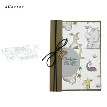 JC Metal Cutting Dies and Stamps Stencil Rhinoceros Animals Craft Cut Die Scrapbook DIY Handmade Album Paper Cards Decor Dies jc metal cutting dies and stamps stencil flowers butterfly craft cut die scrapbook diy handmade album paper cards decor dies
