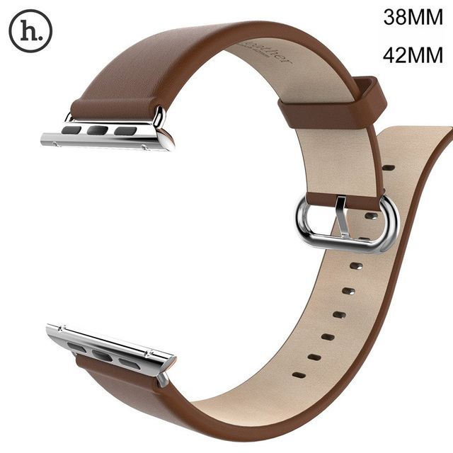 2017 HOCO Genuine Leather Band For Apple Watch 42MM 38MM Cattle Leather With Classic Stainless Steel Buckle for Apple iWatch