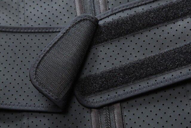 Adjustable Sweat Waist Trainer Abdominal Belt High Compression Zipper Plus Size Latex Waist Cincher Corset Underbust Body Fajas 4