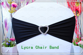 1/2---With Heart Shape Buckle-- Spandex/Lycra/Expand Bands/Chair cover sash For Wedding Party Banquet Home Decorations