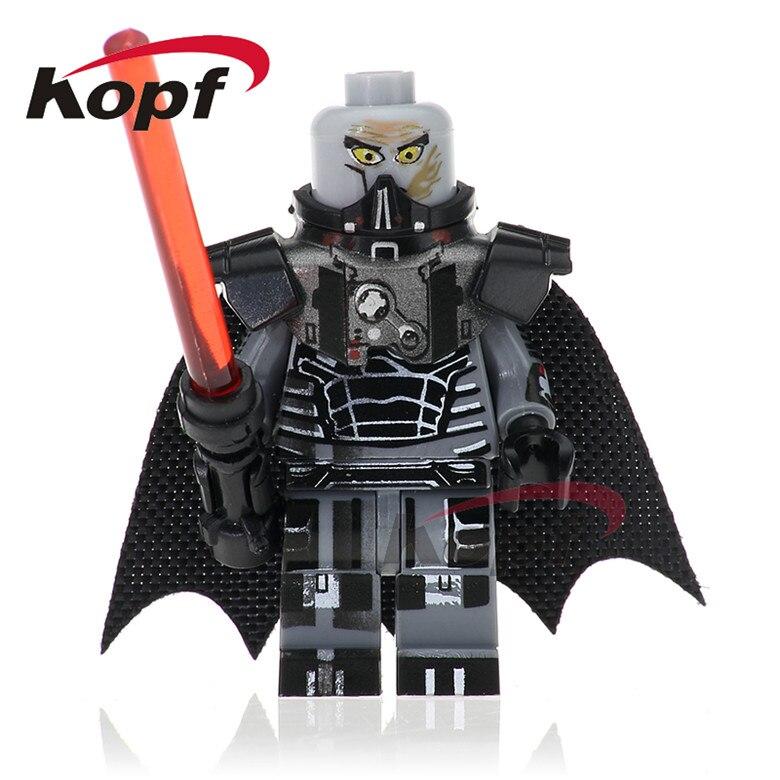 50Pcs PG746 Star Wars Darth Malgus Fifth Brother Lightsaber Clone Trooper First Order Officer Building Blocks Toys for children