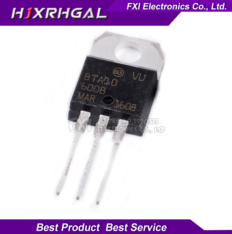 10pcs BTA10 600B BTA10 600 TO 220 TO220 BTA10 10A  new original-in Integrated Circuits from Electronic Components & Supplies
