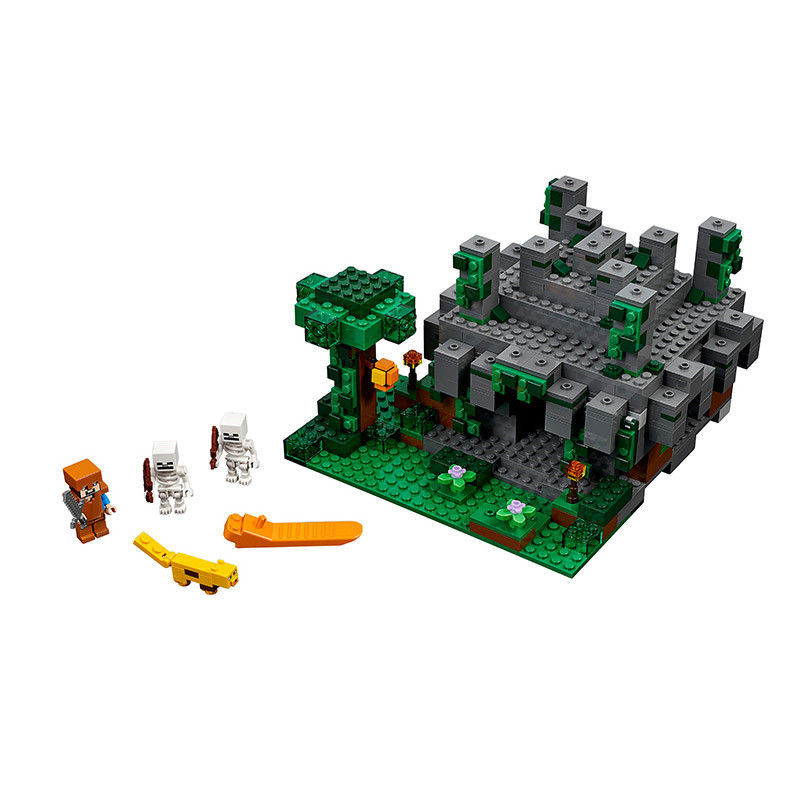 Lepin Pogo Bela 604pcs+ Minecraft My World Building Blocks Bricks Compatible legoe Educational Hobbies For Children Toys