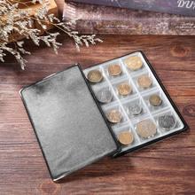 de856a41ab 120 Tasche PVC Monete Collezione di Album Libro Mini Penny Coin Titolari di  Stoccaggio Album Libro
