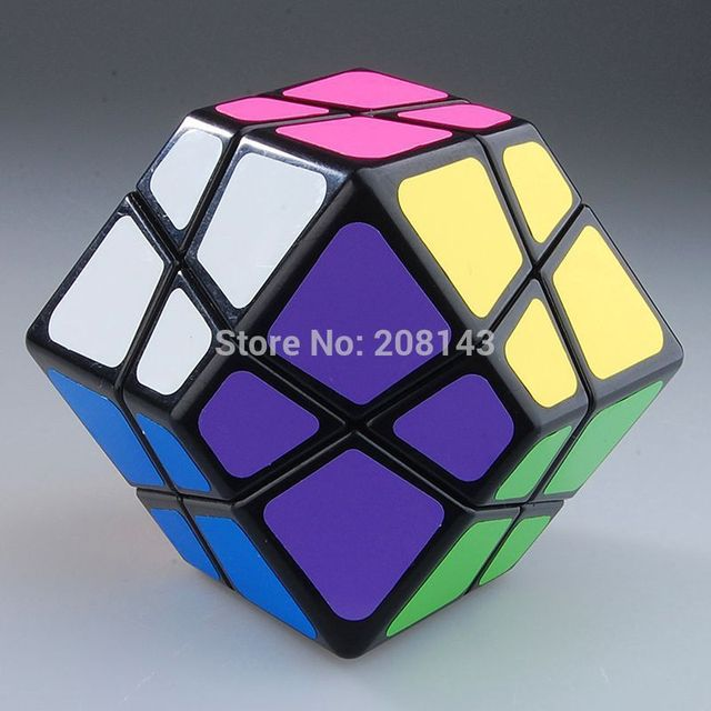 Free shipping! Lanlan Skewb Dodecahedron Speed Cube Black Magic Cube Puzzle
