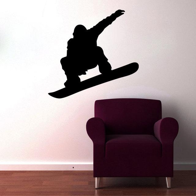 Snowboarding Wall Decals - snowboard wall decal snowboard wall art ...