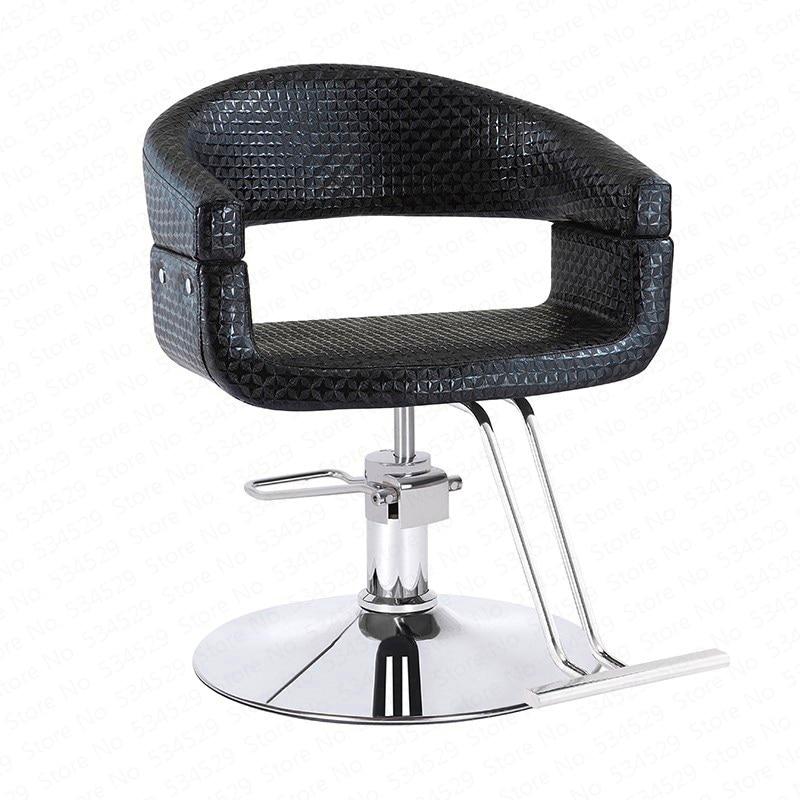 New Hairdressing Chair Rotatable Barber Lifting Handle Chair Hair Salon Special Haircut Chair Makeup Stool Salon Furniture