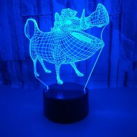 Wild Boar Touch Creative 3d Night Light Led Table Lamp Gift Table Lamp Spot Factory Direct Sales Acrylique Usb Desk Lamp