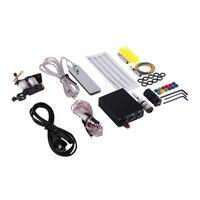 Compact Equipment Tattoo Machine Gun Inks Needles Power Supply Cord Exquisite Beginner Kit Body Beauty Tools US Plug Beauty Hot