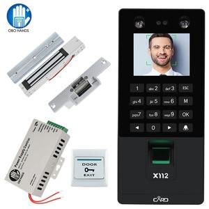 Image 1 - Biometric Facial Face Recognition TCP/IP Fingerprint USB Password Key Access Control syetem Device Time Attendance electric lock