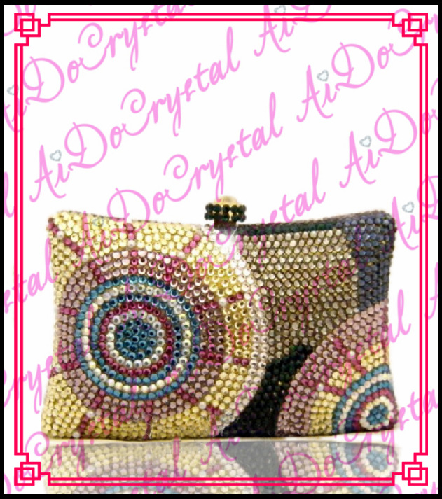 Aidocrystal gold sunflower pattern handle clutch font b bag b font for ladies