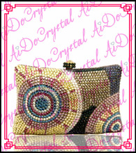 Aidocrystal gold sunflower pattern handle clutch bag for ladies