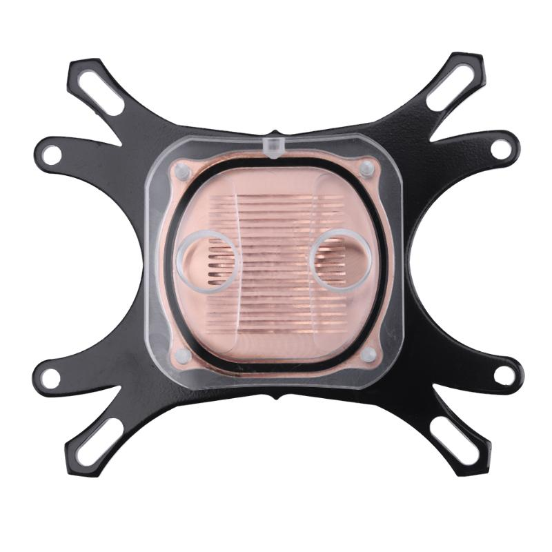CPU Water Block Water Cooling Cooler CPU Waterblock Computer Cooling Radiator with Mounting Screws for Intel for AMD free shipping 53 53 14mm pure copper water cooling block for intel cpu buckle computer copper cpu water block