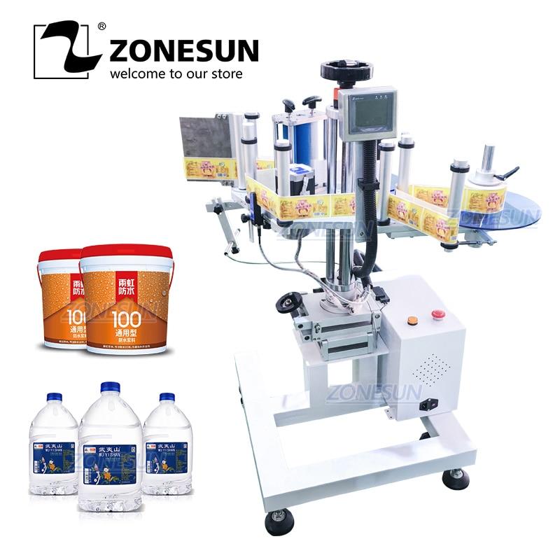 ZONESUN XL-T852 Automatic Portable Round Surface Labeling Machine Label Applicator Bottle Sticker Labeler Factory