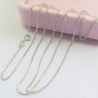Новый au750 чистый 18 К белого золота Цепочки и ожерелья Для женщин пшеницы звено цепи 18 L 1.5 2 г