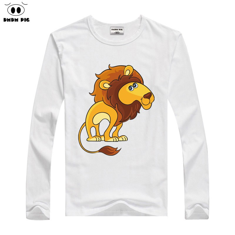 DMDM PIG Tiny Cotton Toddler Long Sleeves T-Shirt Children's T-Shirts For Girls Boys Tops Tee T Shirts Kids TShirts Baby Clothes
