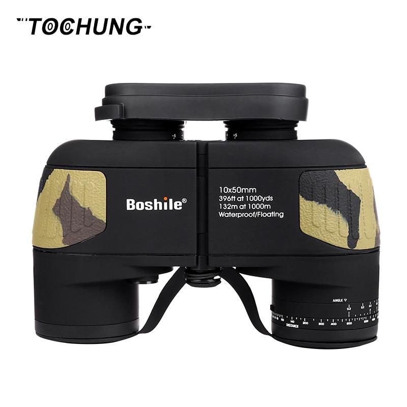 TOCHUNG binocular Military 10x50 professional Marine binoculars Waterproof Digital Compass telescope high power lll night vision