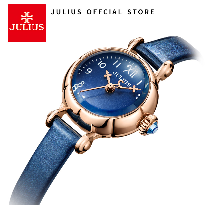 Julius 2018 New Spring Watches Starry Sky Dial 23mm Ultra Slim Watches Ladies Bracelet Quartz Wristwatch Erkek Kol Saati  JA-969 julius quartz watch ladies bracelet watches relogio feminino erkek kol saati dress stainless steel alloy silver black blue pink