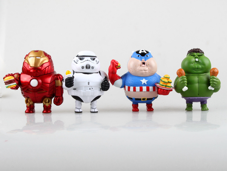 ALEN Hot Toys New Arrival Novelty Items Fat Fatty Version The Avengers 2 Iron Man Hulk Captain America action figures toys new arrival novelty marvel movie minifigures action figures toys fatty version avengers 2 iron man hulk captain america fcz 6