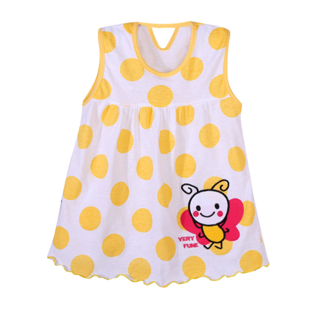 d2ffafd65234 Vest T-Shirt Dress Infant Children Flower Floral Print Girl Baby Fashion  Cute Bee Tees