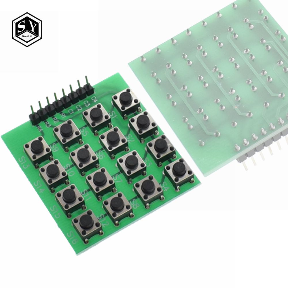 1Pcs 4x4 Matrix 16 Keypad Keyboard Module 16 Buttons Mcu For Arduino UE