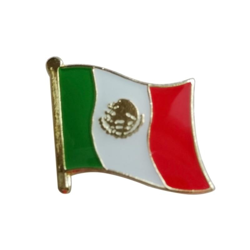 멕시코 국기 깃발 핀 배지 + 철판 황동 + 페인트 + 에폭시 + 나비 백 버튼 무료 배송 (350 개/몫)-에서핀 & 뱃지부터 홈 & 가든 의  그룹 1