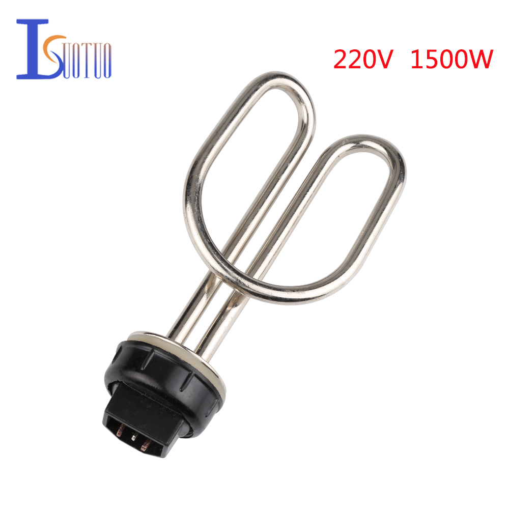 Isuotuo 1500W 220V Stainless Steel Water Heating Elements Heater Pipe Electrical PartIsuotuo 1500W 220V Stainless Steel Water Heating Elements Heater Pipe Electrical Part