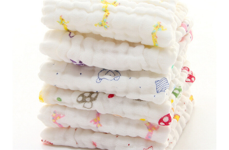 10 Pack Nes Born Baby Gift Ultra Soft 100% Cotton Baby Washcloths and Wipes 12*12Muslin Quick Drying Facial Cloths