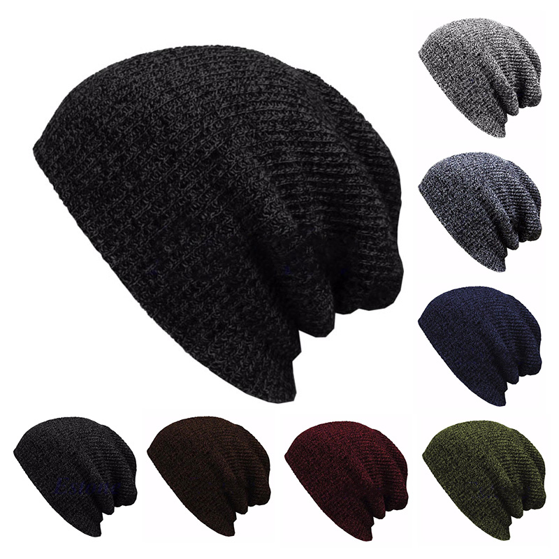 Winter Hat Female Male Soft And Warm   Skullies     Beanies   Casual Knitted Hat Mixed Color Unisex Hat Acrylic Cuffed Hat
