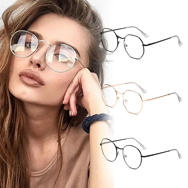Fashion Unisex Classic Metal Glasses Frame Women's Round Computer Glasses Vintage Anti Ratiation Eyeglasses Eyewear For Reading