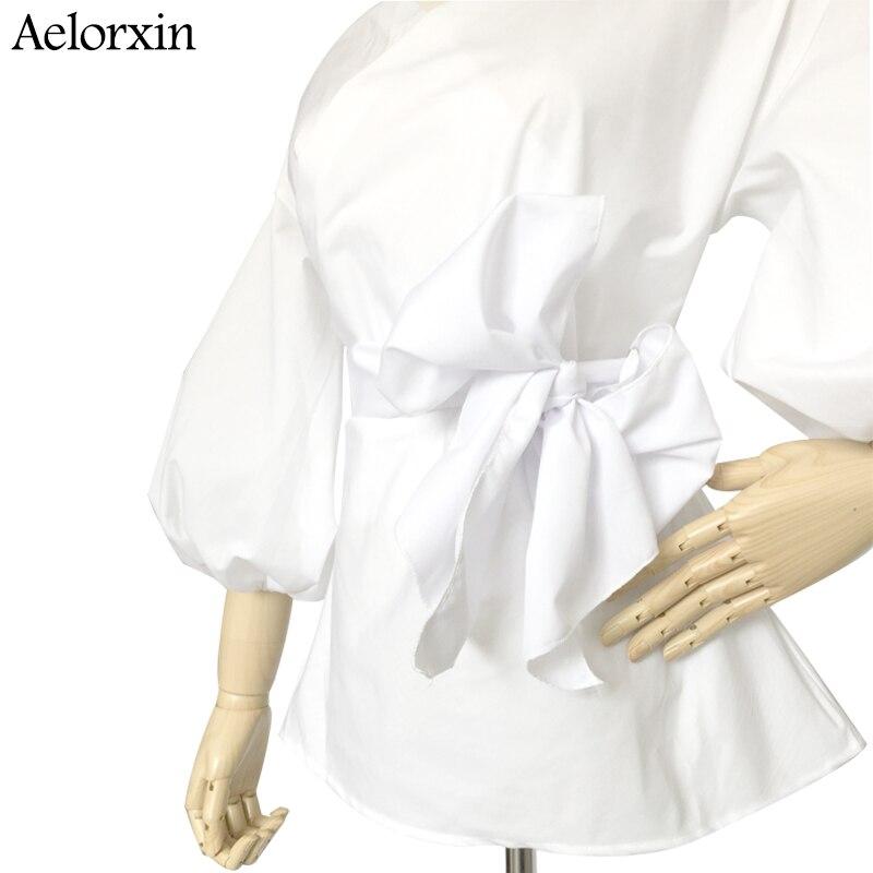 Aelorxin Seksikäs Olkaimeton V-aukko Ristihihnat Puseropaita Naisten - Naisten vaatteet - Valokuva 5