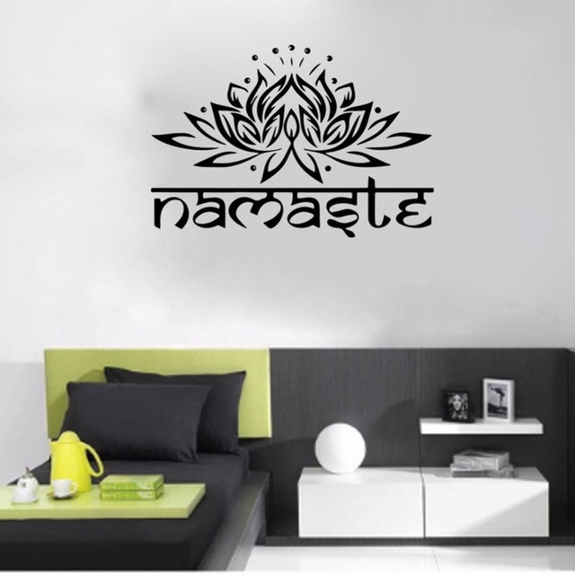 Vinyl hinduism spiritual lotus quote god hindu india character wall living room furniture home decal stickers