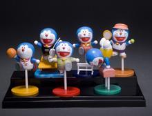 6pcs/set Doraemon Sporting PVC Action Figure Japanese Anime Cartoon Model Toys Figures Christmas Gifts For Kids