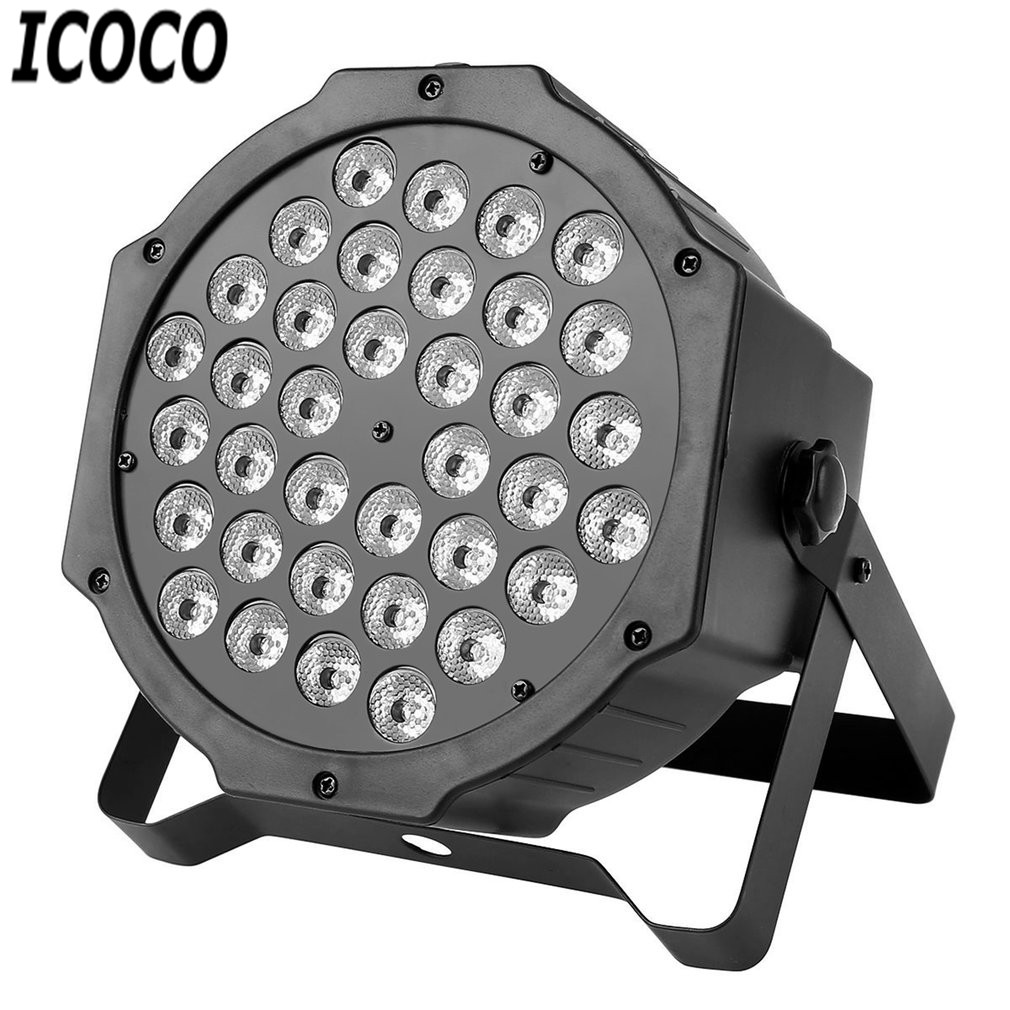 ICOCO 1pc Multi-function 36*1W LED Stage Light Plastic Shell with 4 Models for Party Night Club Pub Bar KTV Stage Ligting Sale icoco 1 set tri blade plastic spiral