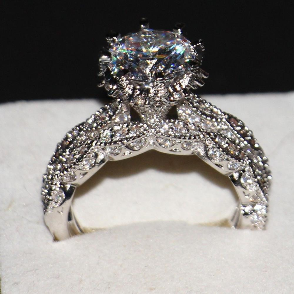 Amazing Victoria Wieck Luxury Jewelry Diamonique 925 Sterling Silver Wedding AAA CZ  Stones Women Bridal Women Ring