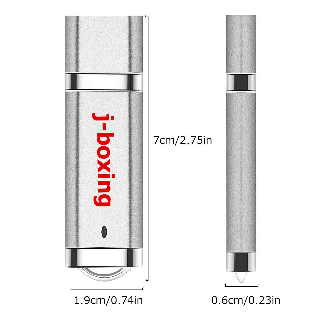 J boxing USB Flash Drives Bulk 16GB 32GB Lighter Design Thumb Drives 4GB 8GB USB 2 0 Flash 1GB 2GB Zip Drives Silver 5PCS Pack in USB Flash Drives from Computer Office