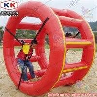 Водный парк игры Прокат коммерческое колесо надувной ролик с воздушным насосом