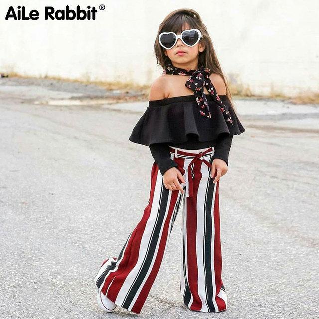 Aile Rabbit 2018 New Girls Ins Fashion Girls Suit Word Collar Shirt