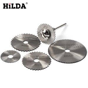 Image 5 - HILDA 5 cái HSS Lưỡi Cưa đối với Dremel Hô Con Công Cụ Thông Tư Saw Blades Cắt Discs Trục Gá Cutoff Cutter Power công cụ multitool