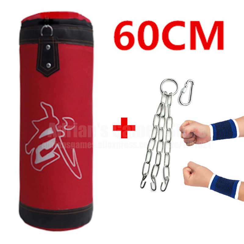 60 cm Sac De Sable Vide Poinçonnage Sac Enfants Sac De Boxe Sports D'intérieur Earthbags Formation Muai Thai Bagwork