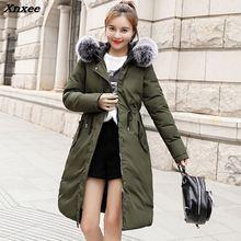 Top Quality Women Winter Long Coat Fashion Big Fur Collar Duck Parkas Jacket Thick Warm Elegant Coat Wadded Jacket цена и фото