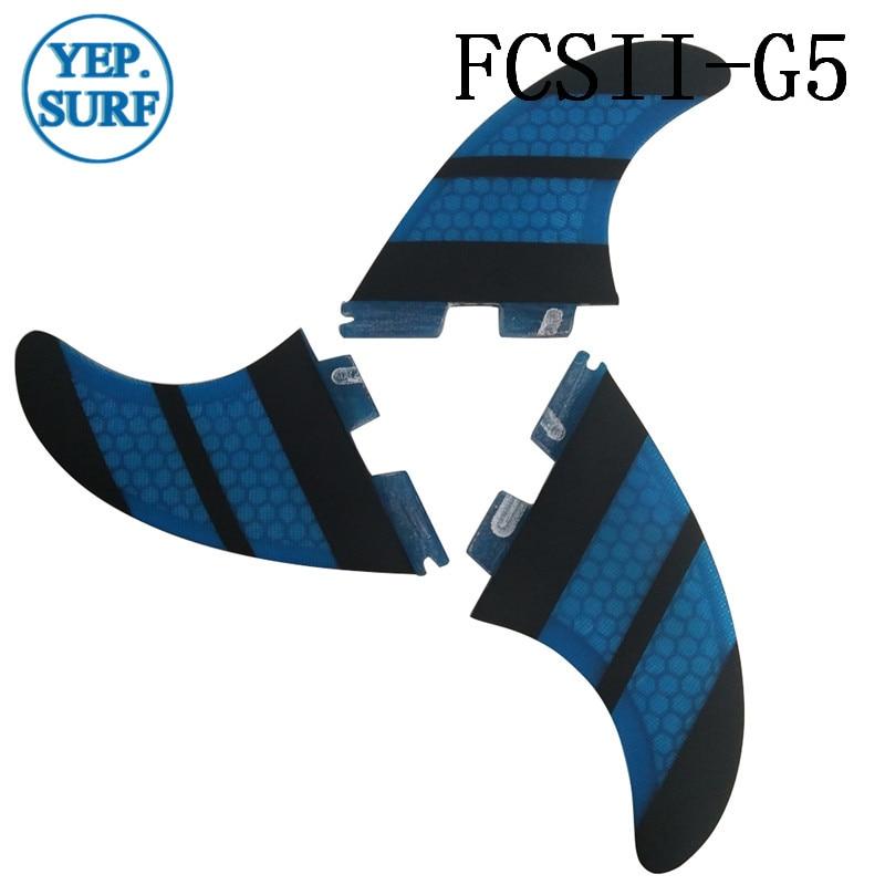 Surf FCS II G5 Fins, fcsii mavi Fiberglas Pambıq Fin FCS 2 SUP - Su idmanı - Fotoqrafiya 3