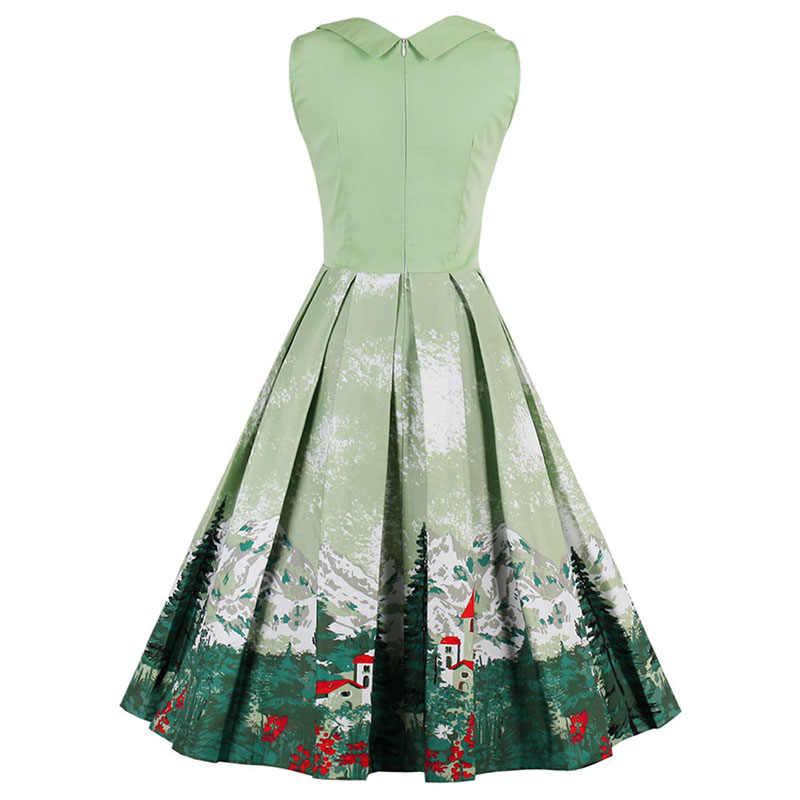 53e360a1694a2 Sisjuly vintage dresses 2017 floral print 1950s style cute summer party  women dress spring short sleeveless vintage dresses