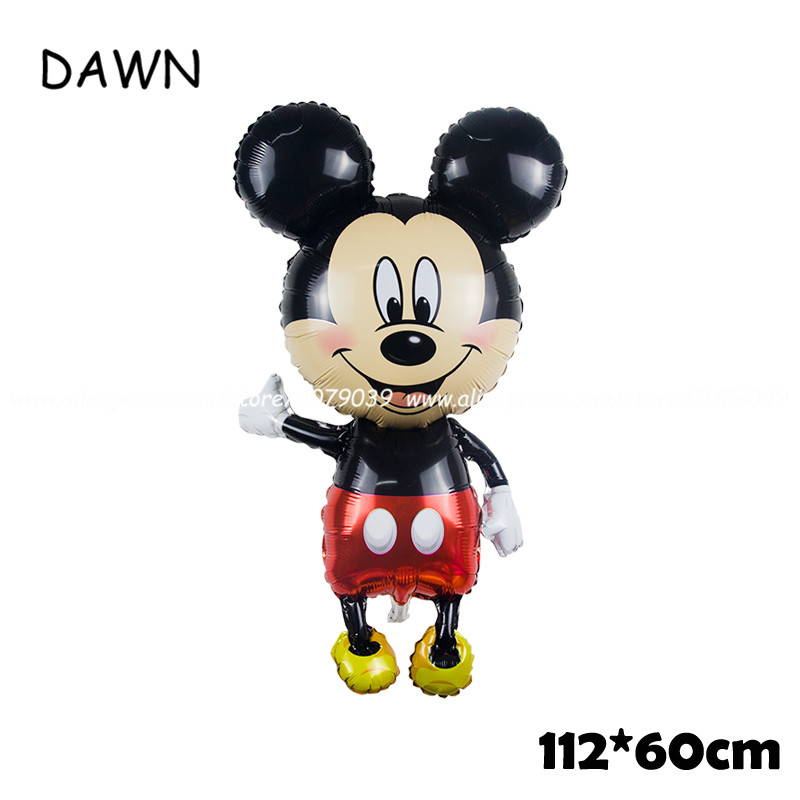 112cm Giant Cartoon Mickey Minnie Mouse Balloon For Kids Birthday Party Decorations