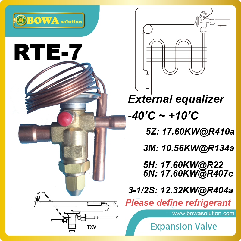 RTE-7 thermostatic expansion valve TEV reduces the chances of the breakdown of the compressor due to compression of the liquid.  rosenberg rte 400002