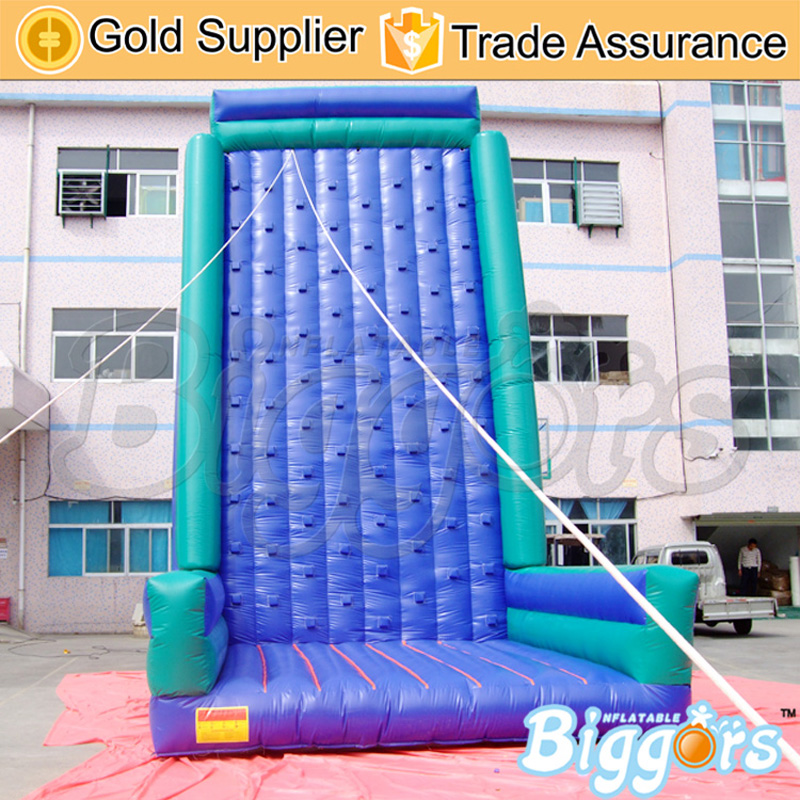 PVC Cheap Price Inflatable Rock Climbing Wall with Safety Belts купить