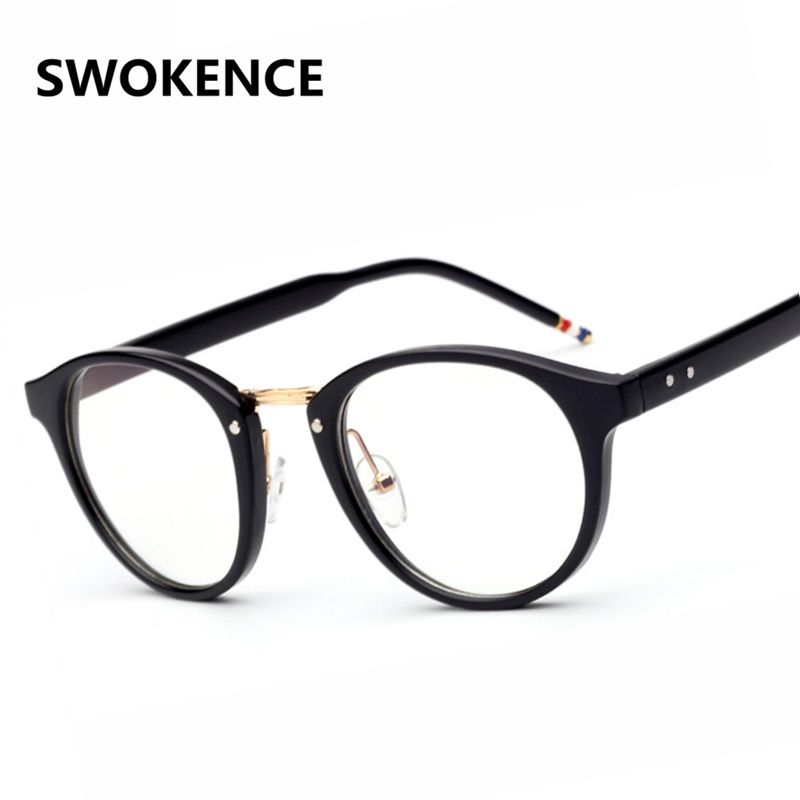 11263ab706 Retro Designer High Quality Round Plain Glass Spectacles Women Men Optics  Glasses Frame Optical Eyewear Frames