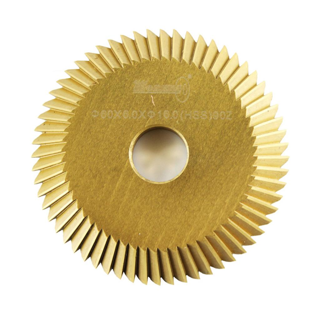 Titanium Plating 60*6*16mm Key Cutting Blade For All Horizontal Key Machine Disk Cutter Locksmith Tool #20
