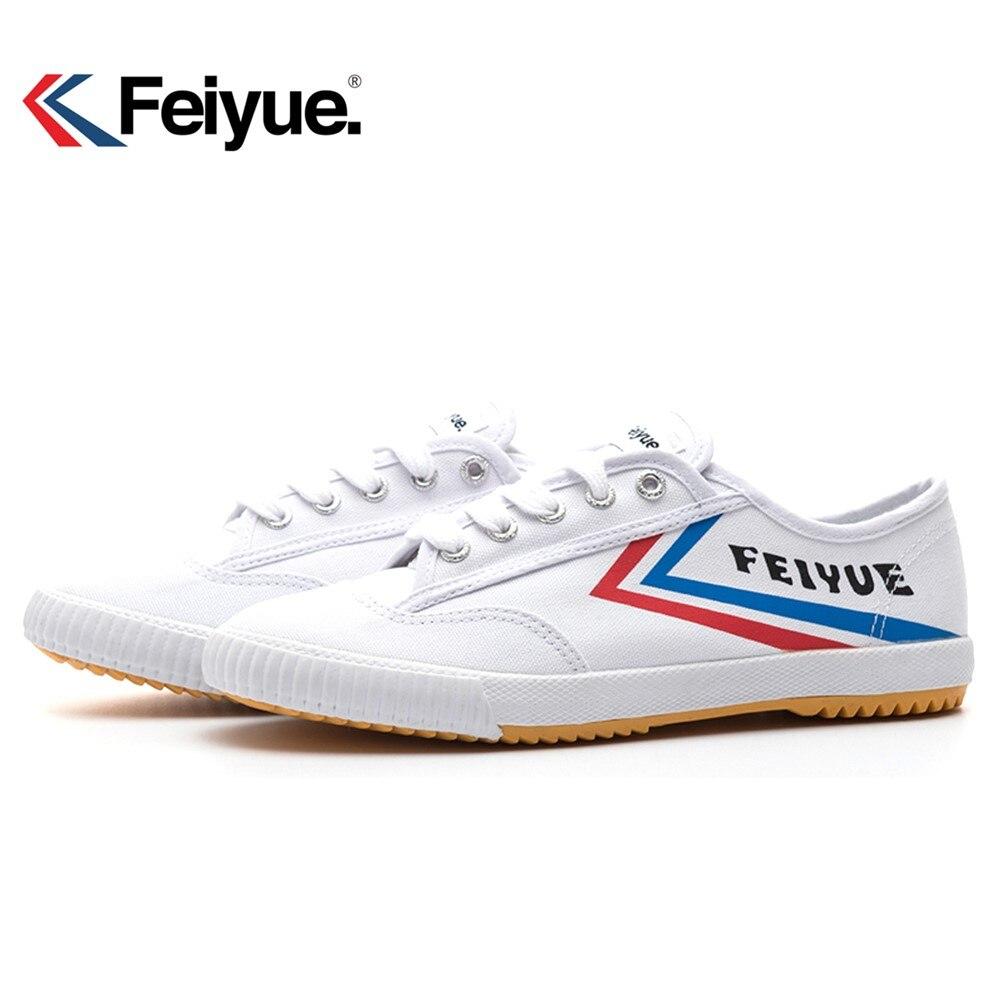 Francés original de Feiyue zapatos de las mujeres de los hombres de artes marciales Taichi Taekwondo Wushu clásico blanco negro Kung Fu de las mujeres zapatos de los hombres